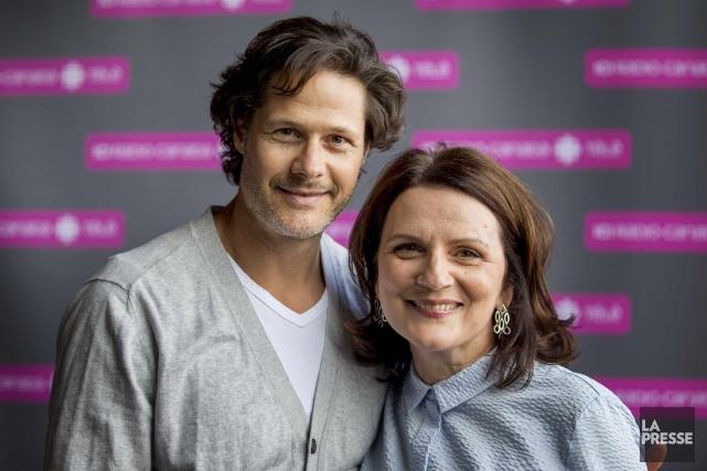 Frédérick De Grandpré et Marie-Thèrèse Fortin, de l'émission... (La Presse, Marco Campanozzi)