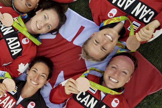 L'équipe féminine de soccer du Canada, dont fait... (Photo fournie)