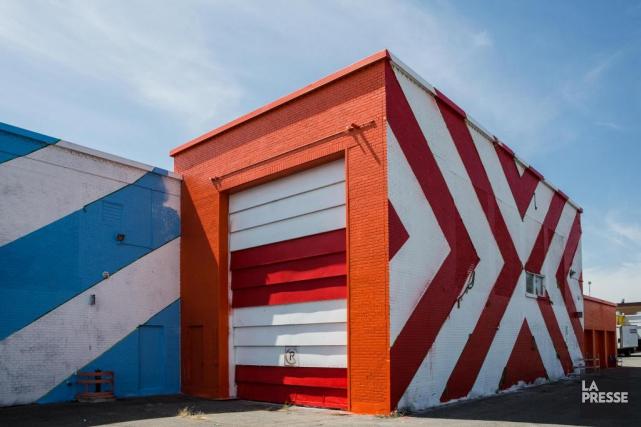 Le muraliste Maser a doté l'ancienne usine de... (PHOTO ÉDOUARD PLANTE-FRÉCHETTE, LA PRESSE)