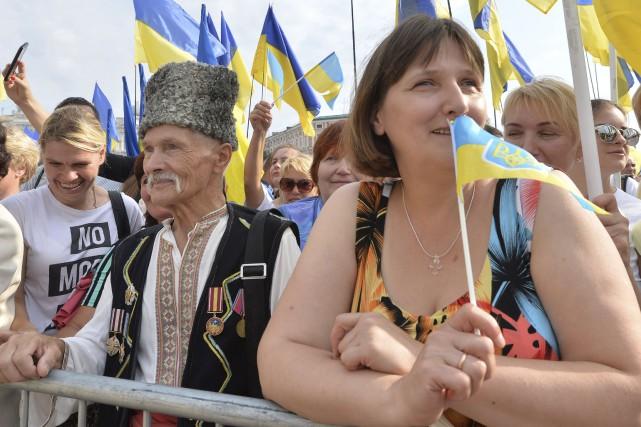 L'Ukraine fête mercredi le 25eanniversaire de son indépendance... (AFP, Genya Savilov)
