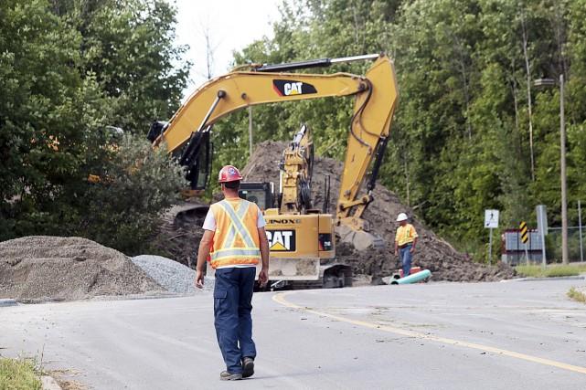 En 2008, un glissement de terrain forçait l'évacuation... (Etienne Ranger, LeDroit)