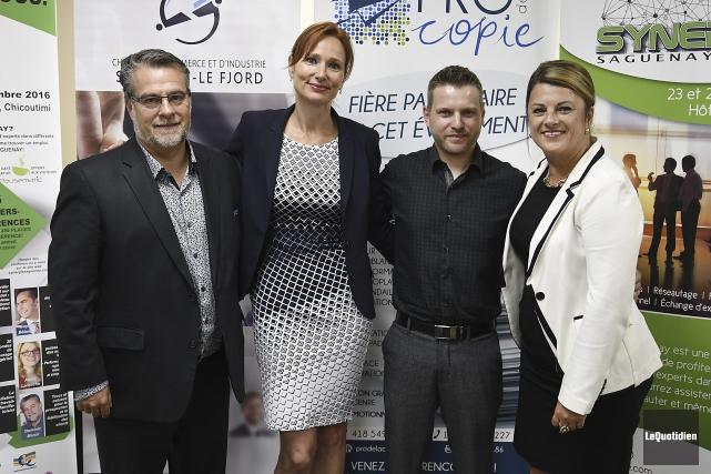 Dominic Marcil et Sylvie Gendron, du Groupe Formatree,... (Photo Le Quotidien, Mariane L. St-Gelais)