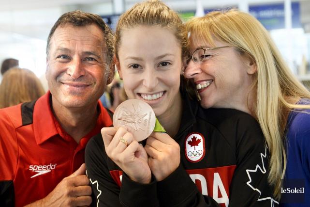 La nageuse Katerine Savard, médaillée de bronze à... (Le Soleil, Jean-Marie Villeneuve)