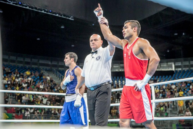 Tony Germain a officié 12 combats durant les... (AIBA)