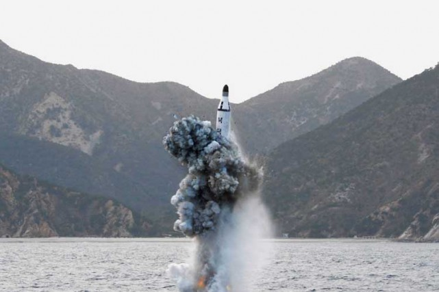 L'engin, probablement de type KN-11, a survolé la... (ARCHIVES REUTERS)