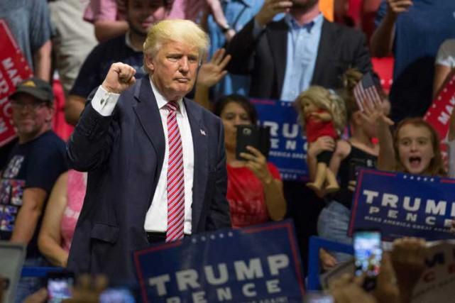 Donald Trump a livré mardi soir un discours... (PHOTO AFP)