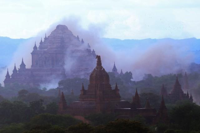 «Plusieurs pagodes célèbres ont été endommagées pendant le... (AFP)