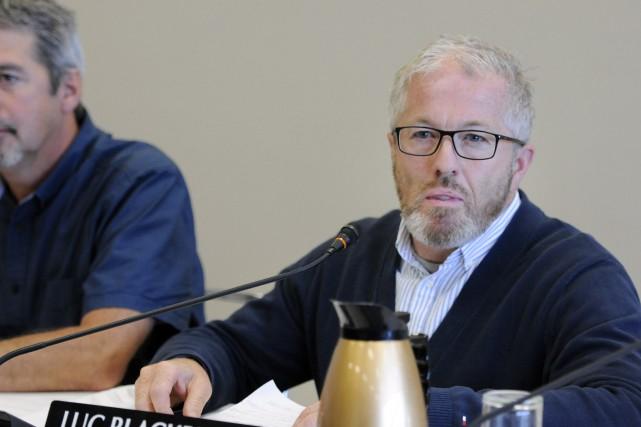 Le conseiller municipal, Luc Blackburn, est consterné par... (Mariane L. St-Gelais)