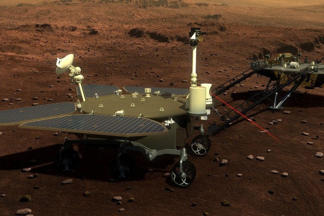 Le « rover », d'un poids de 200 kilos, sera muni... (Photo China Daily via REUTERS)