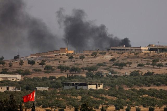 «Jarablos est complètement libérée», a affirmé un commandant... (PHOTO REUTERS)