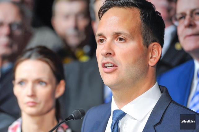 Le candidat à la direction du Parti québécois... (Le Quotidien, Gimmy Desbiens)