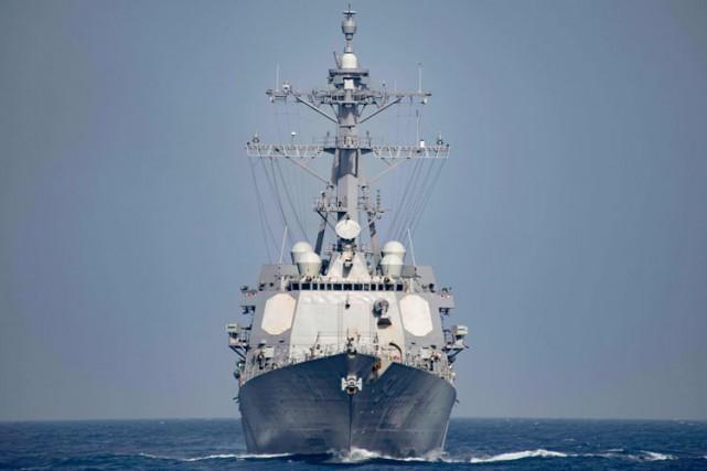 LeUSS Nitze, qui peut tirer des missiles balistiques,... (ARCHIVES AFP)