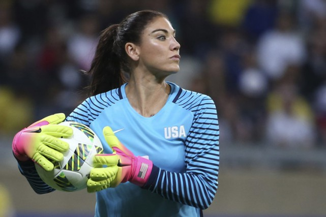 Hope Solo... (PHOTO AP)