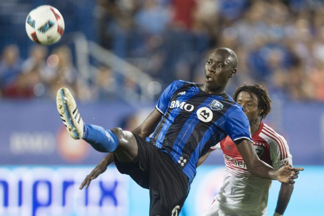 Le défenseur de l'Impact Hassoun Camara, mercredi, à... (Photo Paul Chiasson, PC)