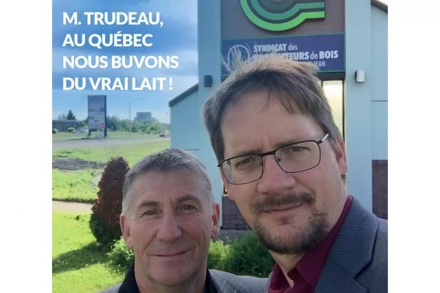 Sylvain Gaudreault a ici pris un égoportrait en... (Photo tirée de Facebook)