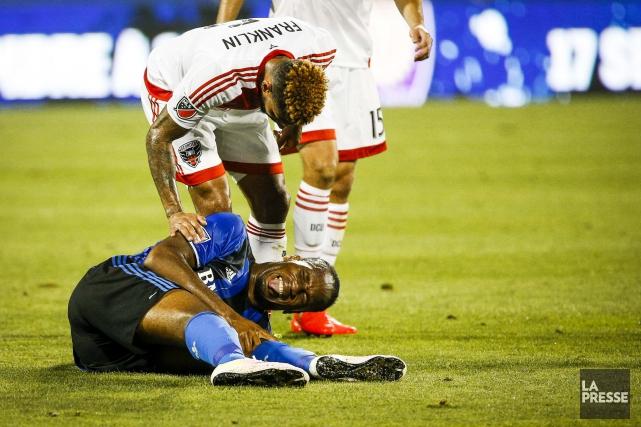 Blessé à la 36e minute, Didier Drogba a... (La Presse, Olivier Pontbriand)
