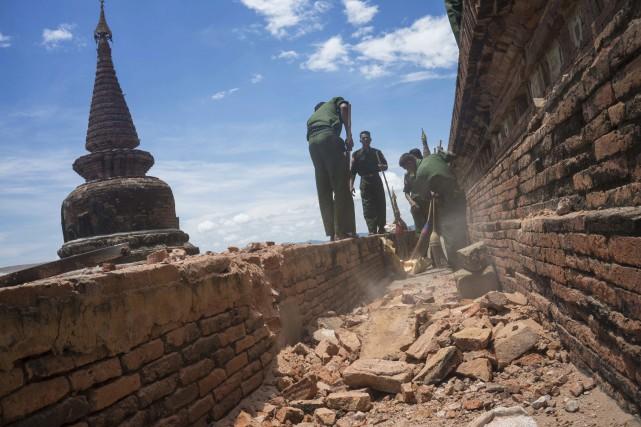 Bagan, que la Birmanie espère faire classer au... (AP)