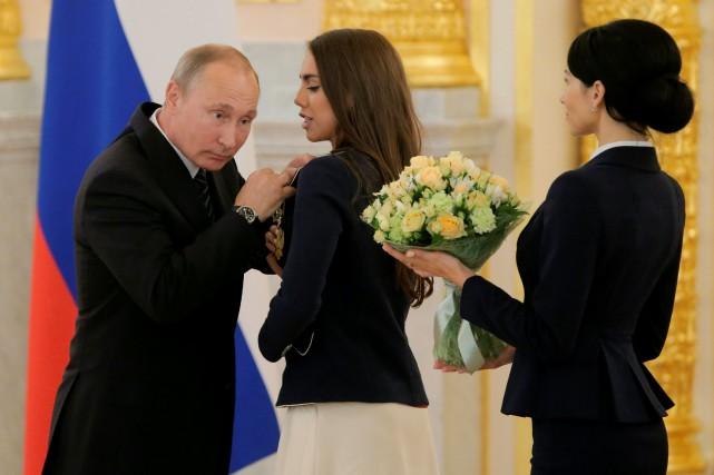 Le président russe Vladimir Poutine a reçu au... (Photo Maxim Shemetov, REUTERS)