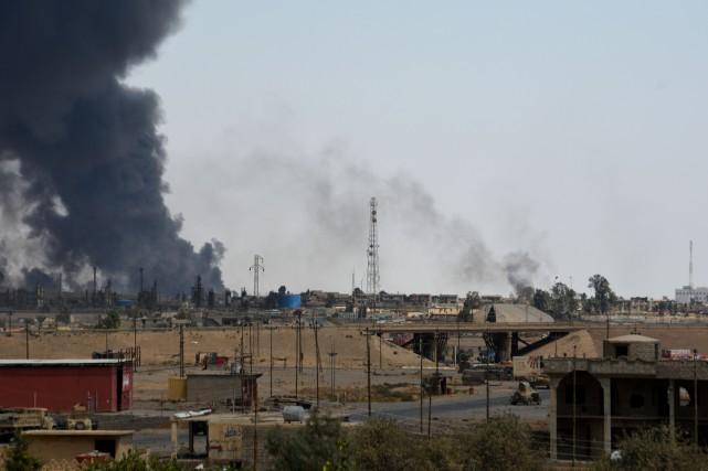 Qayyarah se situe sur la rive ouest du... (AFP)