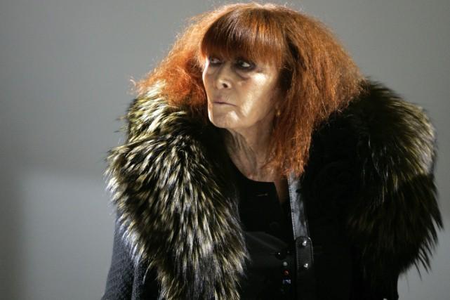 Sonia Rykiel lors d'un défilé en janvier 2008.... (PHOTO ARCHIVES AP)