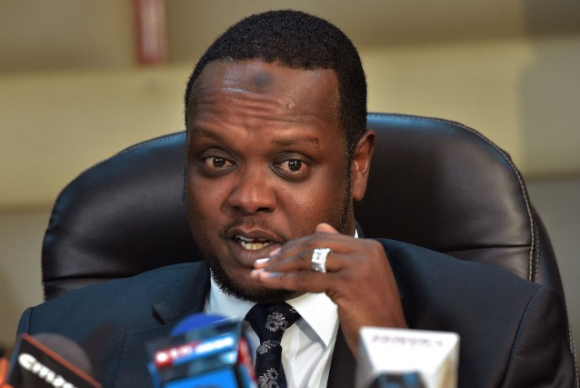 Le ministre des sports du Kenya, Hassan Wario.... (Photo Simon Maina, AFP)