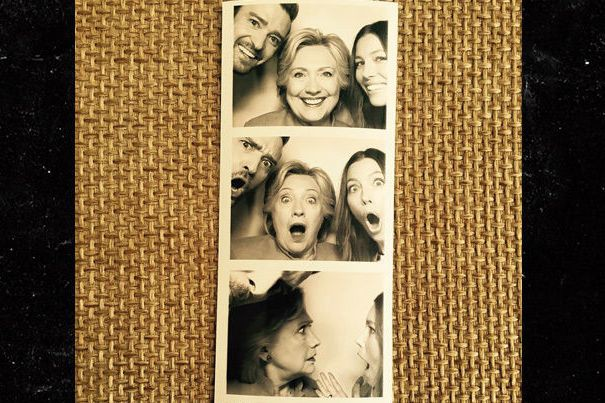 Justin Timberlake, Jessica Biel et Hillary Clinton ont... (PHOTO TIRÉE DU COMPTE INSTAGRAM DE JUSTIN TIMBERLAKE)
