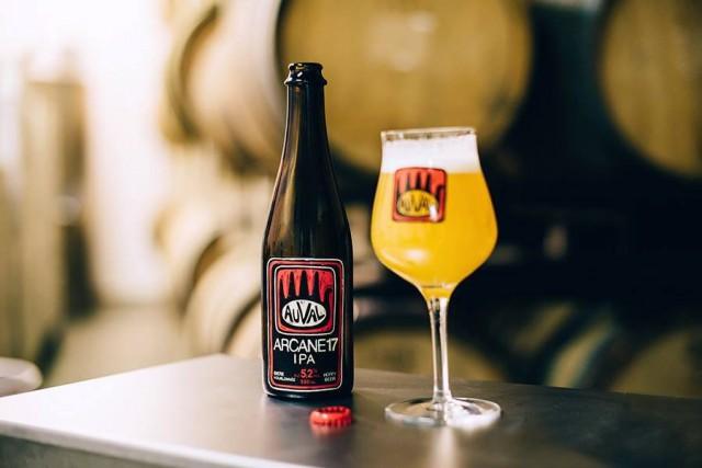 La bière Arcane17 de Brasserie Auvalde Val-d'Espoir en... (PHOTO ANGIE MENNILLO, TIRÉE DE LA PAGE FACEBOOK DE LA MICROBRASSERIE)