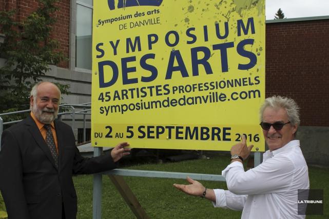 Le président du 18e Symposium des arts de... (La Tribune, Yvan Provencher)