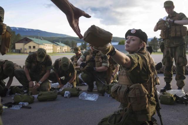 La Norvège impose maintenant le service militaire aux... (AFP, Kyrre Lien)
