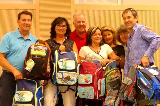 Parmi les bénévoles du Club Rotary de Sherbrooke... (Photo fournie)