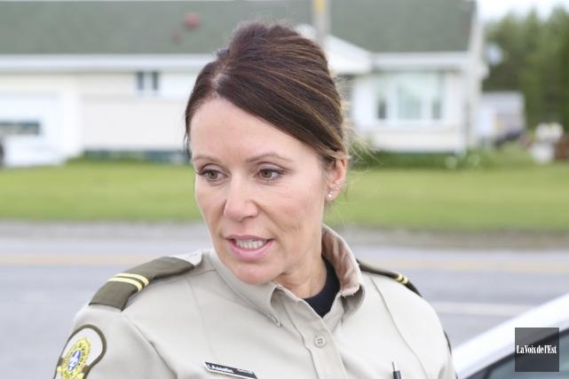 La sergente Ingrid Asselin, porte-parole de la SQ... (Archives La Voix de l'Est)