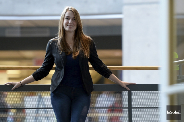 Vanessa Parent, présidente de la CADEUL et étudiante... (Le Soleil, Yan Doublet)