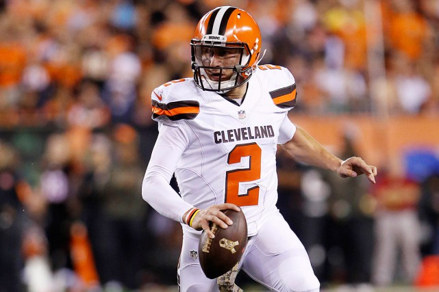 Selon toute vraisemblance, Johnny Manziel est aux prises... (PHOTO MARK ZEROF, ARCHIVES USA TODAY SPORTS)