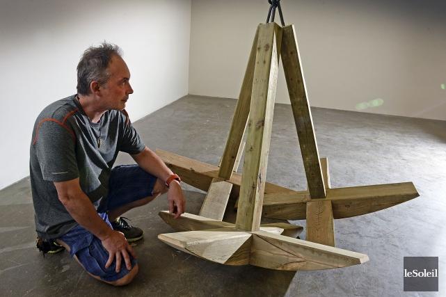 Chaque sculpture de François Mathieu a la forme... (Le Soleil, Patrice Laroche)