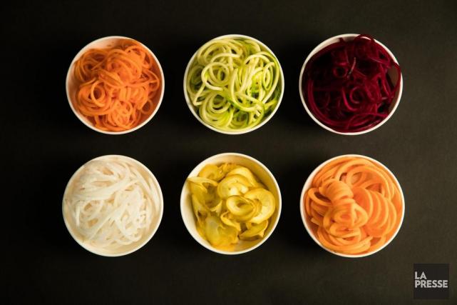Daïkon, courgette verte, betterave, courgette jaune et patate... (Photo Ivanoh Demers, La Presse)