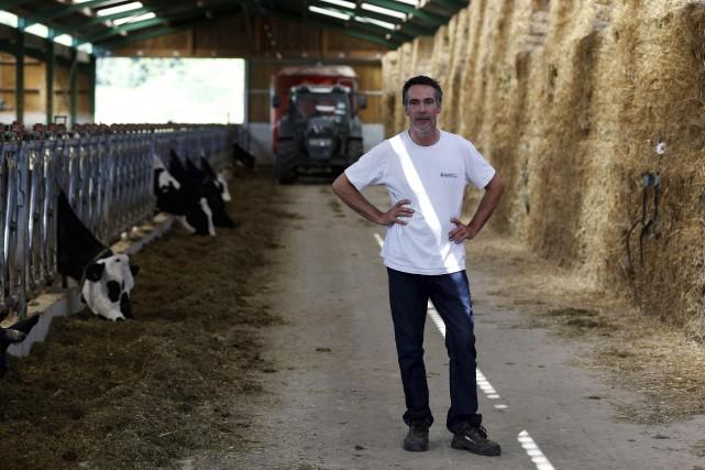 Nicolas Durand à la tête de la ferme... (AFP, Charly Triballeau)