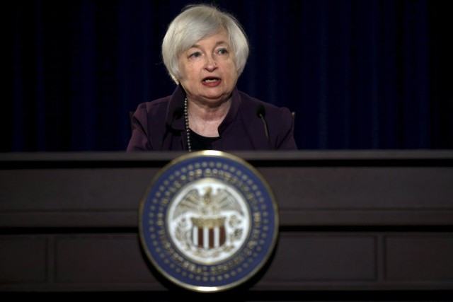 La présidente de la Fed, Janet Yellen.... (photo Carlos Barria, archives REUTERS)