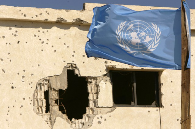 Un drapeau des Nations Unies flotte au vent... (Archives AFP)