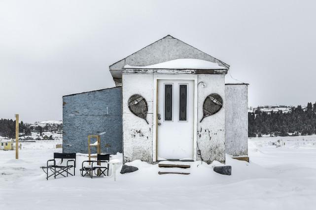 Bâtisse faisant partie intégrante des paysages hivernaux du... (Claude Guérin)