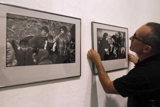 Quelques-unes des photos présentées dans le cadre du... (PHOTO AFP)