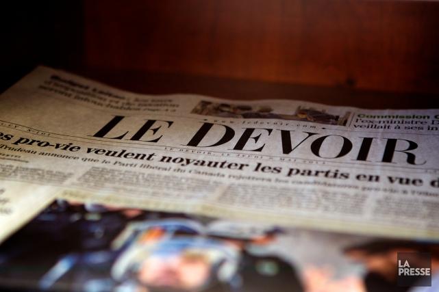 Le quotidien Le Devoir a déposéune série de... (Archives La Presse)