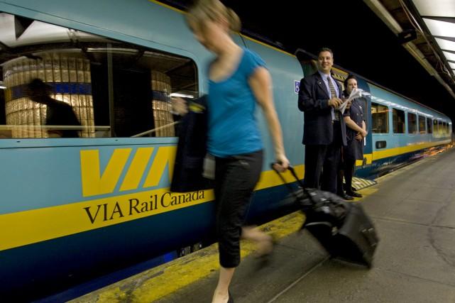 Le nombre de trains de passagers par jour... (La Presse)