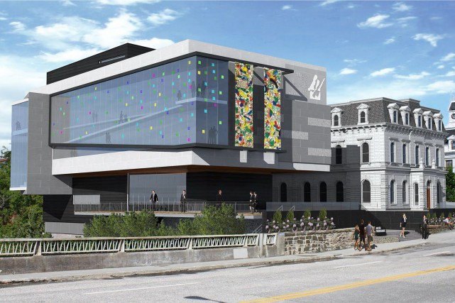 L'agrandissement du Musée des beaux-arts de Sherbrooke permettrait... (Photo fournie Espace Vital Architecture)
