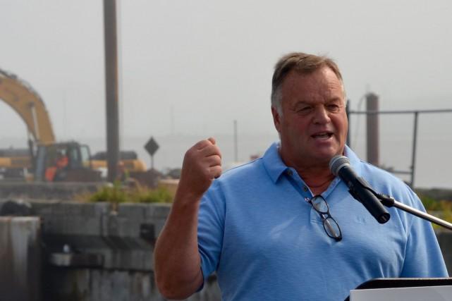 Le président des Barges de Matane, Paul Gauthier,... (Collaboration spéciale, Johanne Fournier)