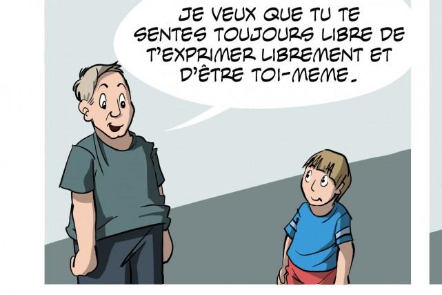 Assignée Garçon est une bande dessinée en ligne... (Extrait de la BD)