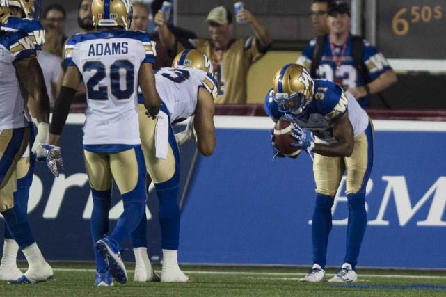 Le demi défensif des Blue Bombers de Winnipeg,... (La Presse canadienne, Paul Chiasson)