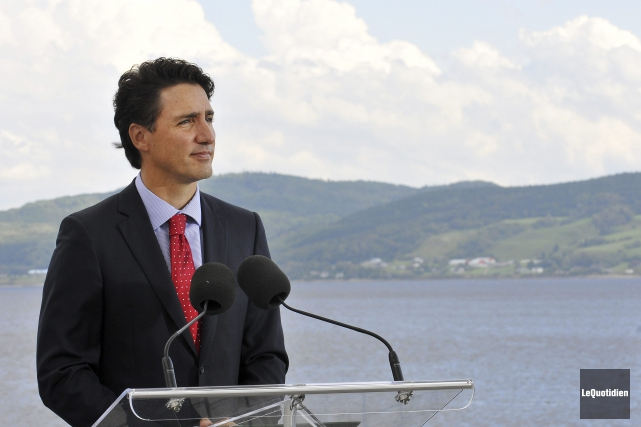 Justin Trudeau était de passage à La Baie.... (Photothèque Le Quotidien, Rocket Lavoie)