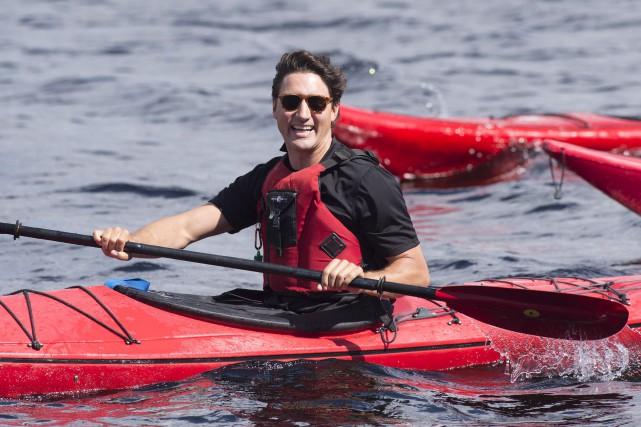Justin Trudeau s'est offert un petit tour de... (La Presse canadienne, Jacques Boissinot)