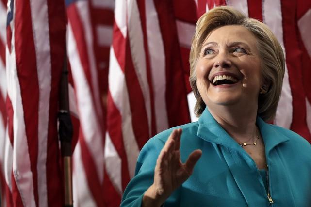 Hillary Clinton a participé samedi à sa première... (AP, Carolyn Kaster)