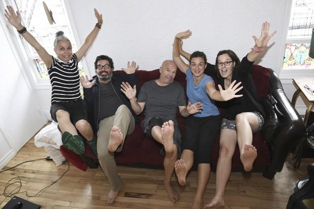 Guylaine Rivard, Éric Chalifour, Serge Potvin, Vicky Côté... (Photo Le Progrès-Dimanche, Marianne L. St-Gelais)